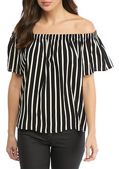French Connection Polly Plains Stripe Top