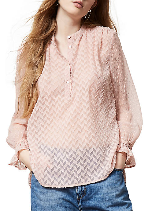 French Connection Corsica Sheer Blouse