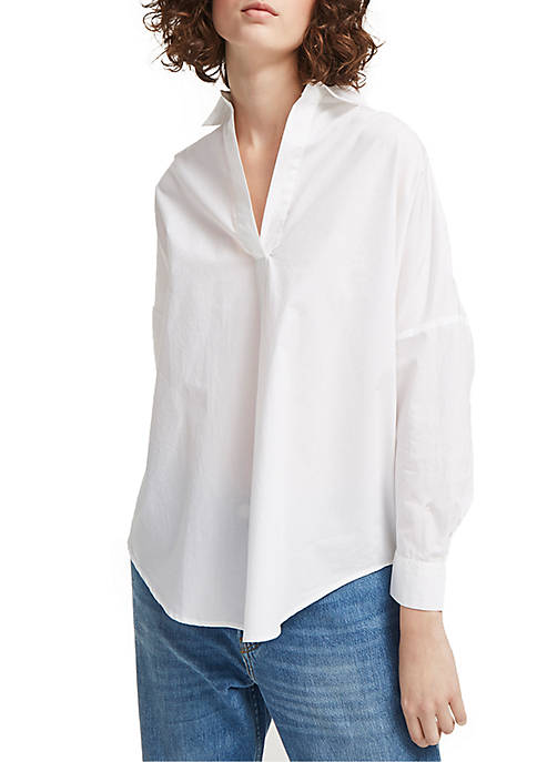 French Connection Rhodes Poplin Popover Shirt
