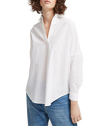 bb5c2ba4340 French Connection. French Connection Rhodes Poplin Popover Shirt