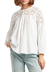 Coletta Cotton Long Sleeve Top by French Connection
