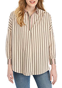 d1c2a240691 ... French Connection Cotton Stripe Pullover Top