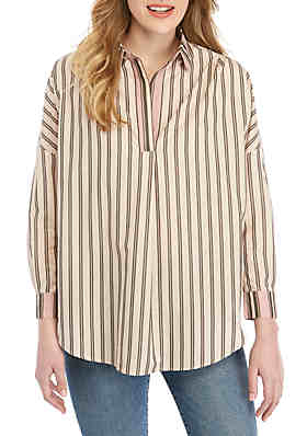 69dcab4e French Connection Cotton Stripe Pullover Top ...