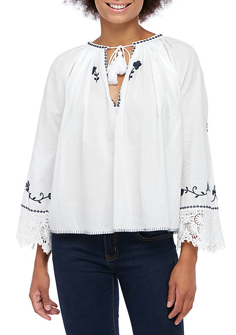 French Connection Asaret Cotton Top
