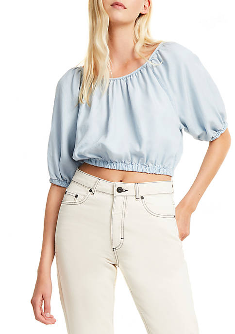 French Connection Julienne Lyocell® Off the Shoulder Crop
