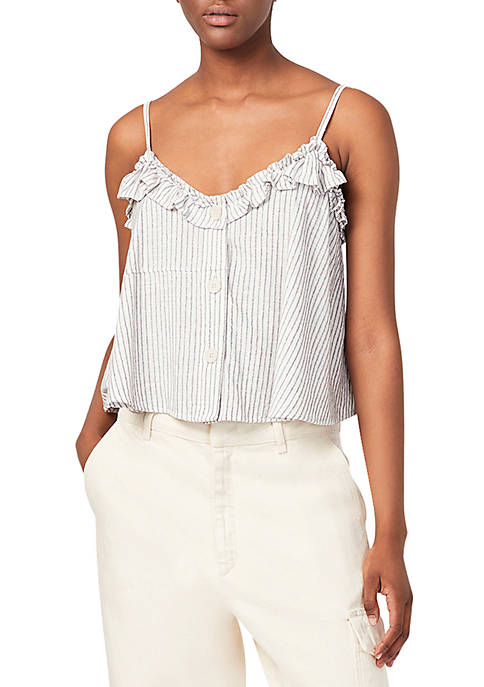 French Connection Laich Striped Ruffle Camisole