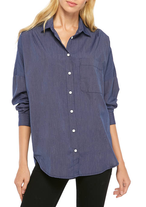French Connection Lillia Dotted Stripe Woven Shirt