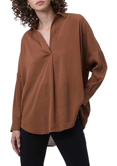 French Connection Rhodes Textured Long Sleeve Top