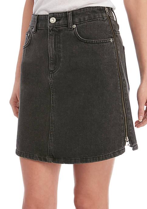 Pepper Black Denim Skirt