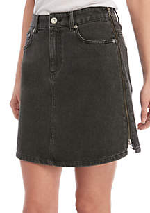0c6fa9356c ZELOS Mesh Skort · French Connection Pepper Black Denim Skirt
