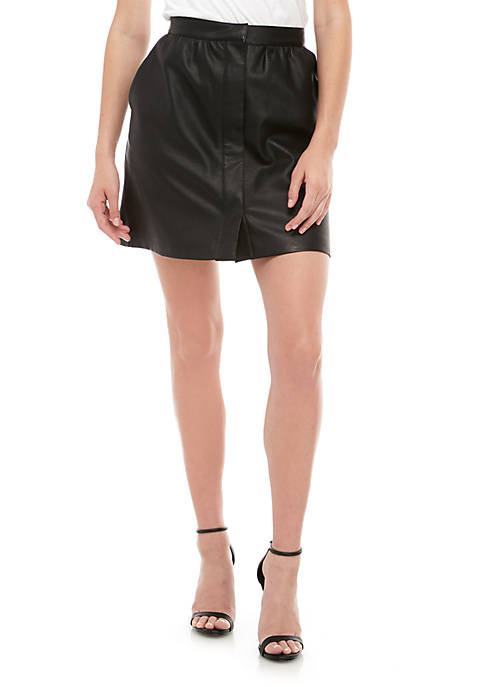 French Connection Faux Leather Skirt