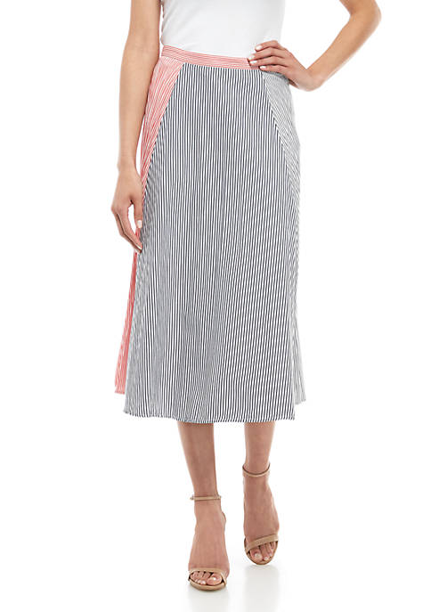 Carolie Stripe Boyfriend Skirt