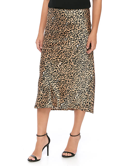 French Connection Leopard Midi Skirt