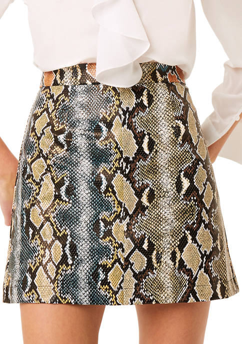 French Connection Reptile Mini Skirt