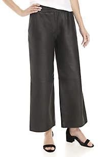 Ava Leather Wide Leg Pants