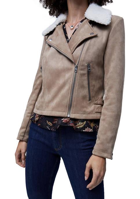 French Connection Womens Amanranta Faux Shearling Jacket