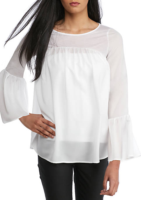 Polly Bell Ruffle Top