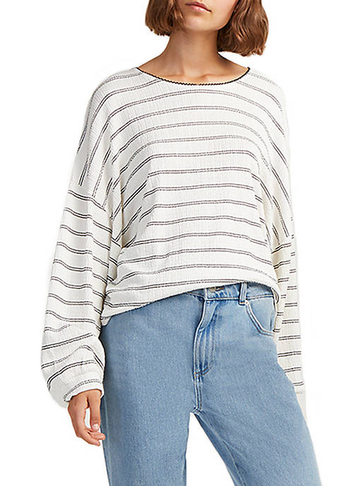French Connection Pearle Long Sleeve Stripe T Shirt