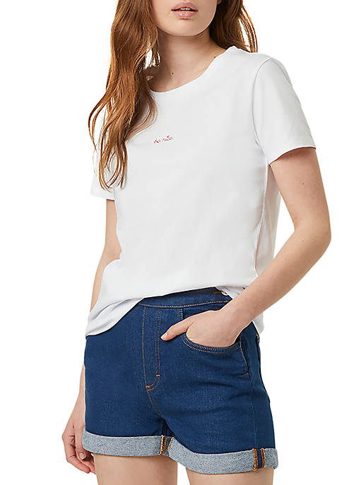 French Connection Short Sleeve Embroidered T-Shirt