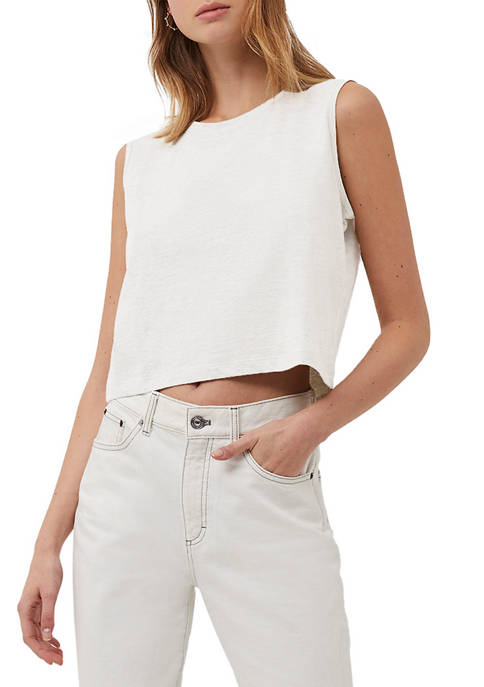 French Connection Organic Cotton Cropped Tank