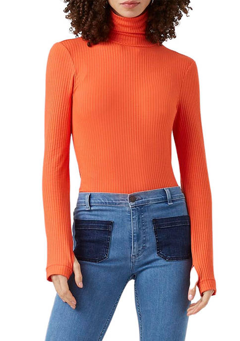 French Connection Womens Talie Jersey Turtleneck Top