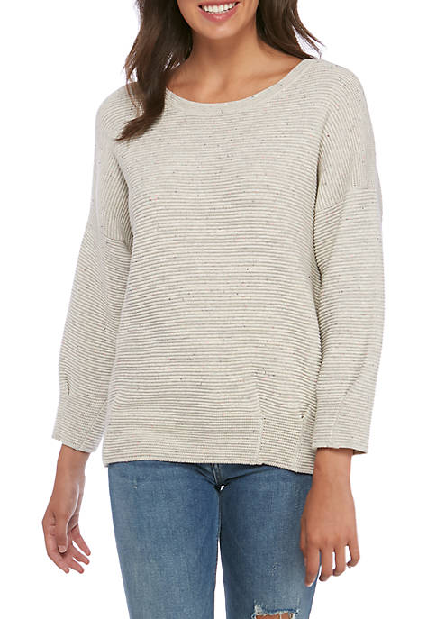 French Connection Mozart Split Neck Sweater