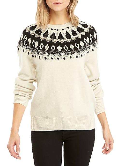 Vera Fair Isle Embellished Sweater