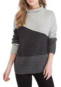Tonal Patchwork Sweater