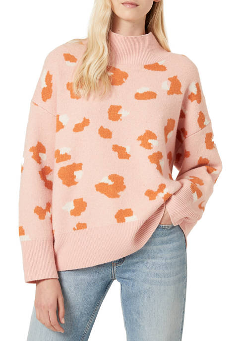 French Connection Louella Jacquard Leopard Sweater