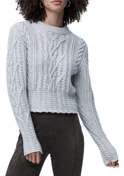 French Connection Womens Joette Cable Knit Sweater