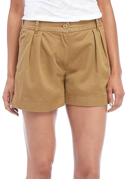 French Connection Collman Cotton Pleated Shorts