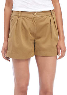 Collman Cotton Pleated Shorts