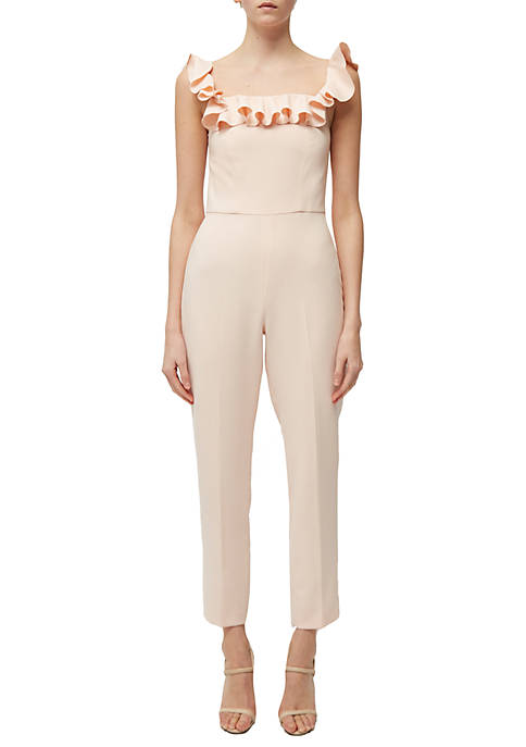 French Connection Whisper Light Off The Shoulder Jumpsuit