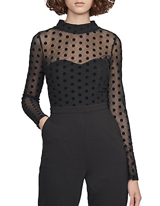 3a4b8998495 French Connection. French Connection Leah Mesh Jersey Jumpsuit