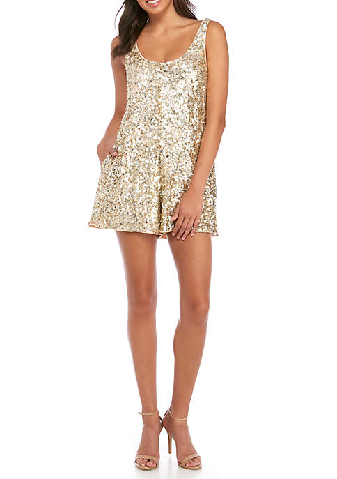 French Connection Dia Shine Sequin Romper