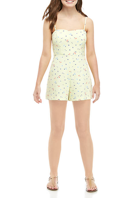 French Connection Printed Sweetheart Romper