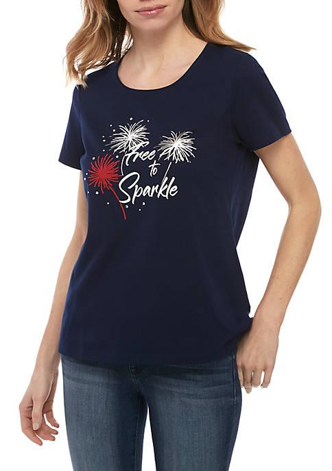 Petite Free To Sparkle T Shirt