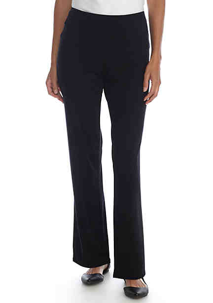 Kim Rogers® Petite Straight Leg Pull-On Pant-Average ...