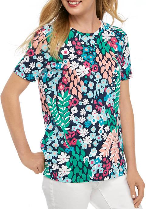Kim Rogers® Petite Mega Print T-Shirt
