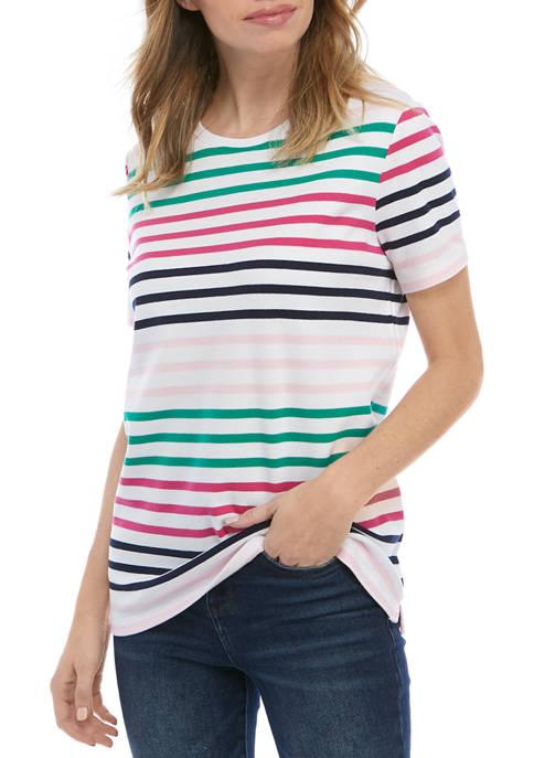 Kim Rogers® Petite Short Sleeve Mega Yarn Dye