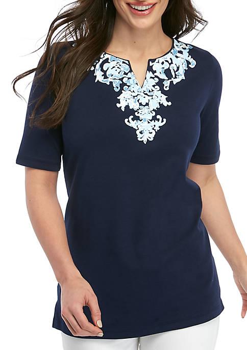 Petite Kurta Printed Tunic