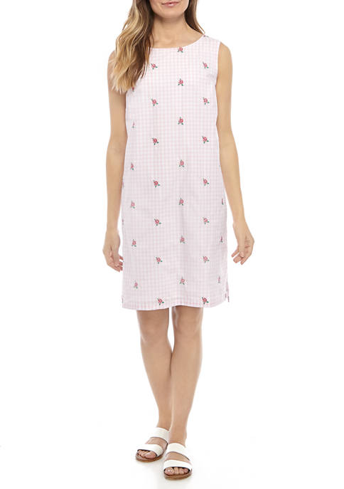 Kim Rogers® Petite Sleeveless Embroidered Dress