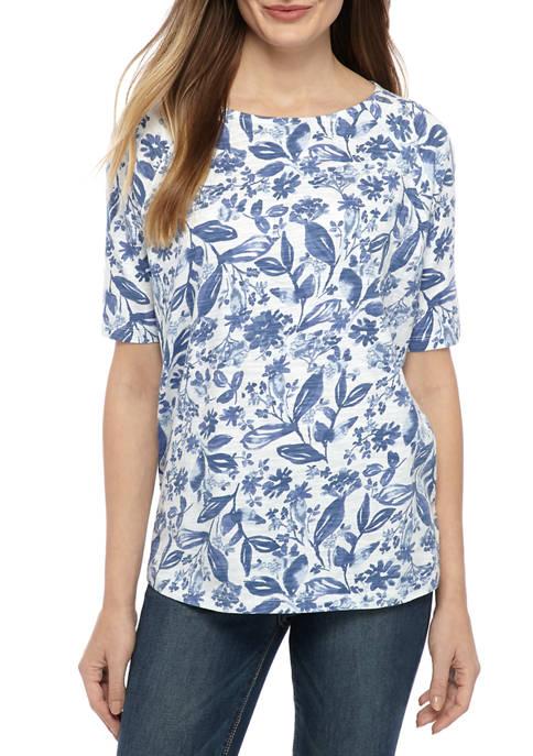 Kim Rogers® Petite Boat Neck T-Shirt