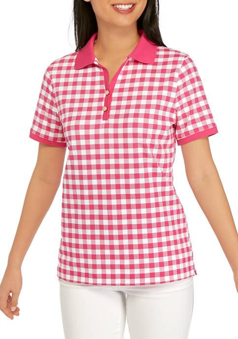 Petite Short Sleeve Polo Shirt