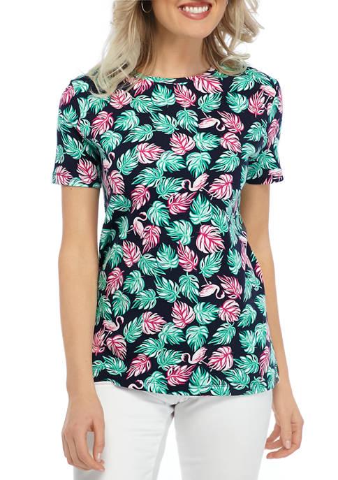 Kim Rogers® Petite Short Sleeve Printed T-Shirt
