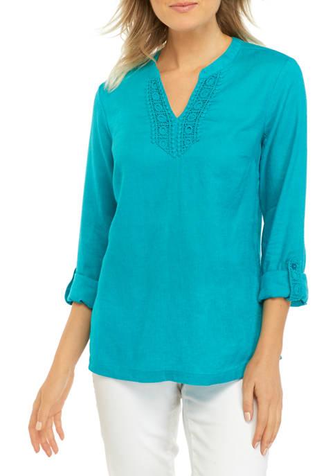 Kim Rogers® Petite 3/4 Sleeve Kurta Top