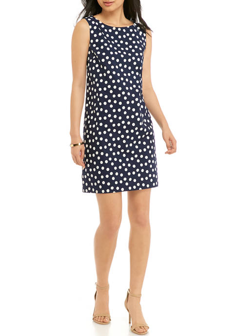 Petite Sleeveless Printed Dress