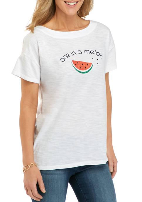 Kim Rogers® Petite Drop Shoulder Art T-Shirt