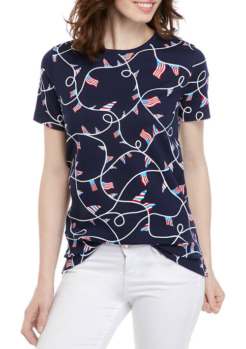 Petite Printed Short Sleeve T-Shirt