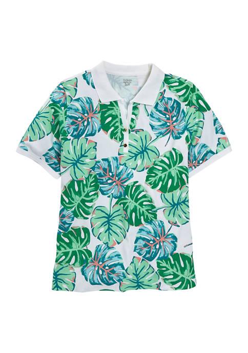 Kim Rogers® Petite Fashion Print Short Sleeve Polo